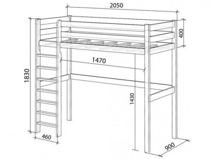 Кровать чердак своими руками чертежи размеры