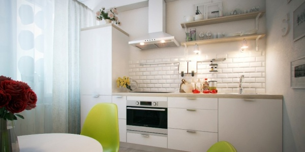 кухни без верхних шкафов фото дизайн