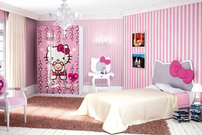 for Cuartos para ninas grandes color rosado