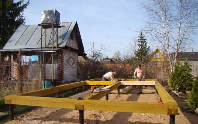 Каркасные бани своими руками на даче