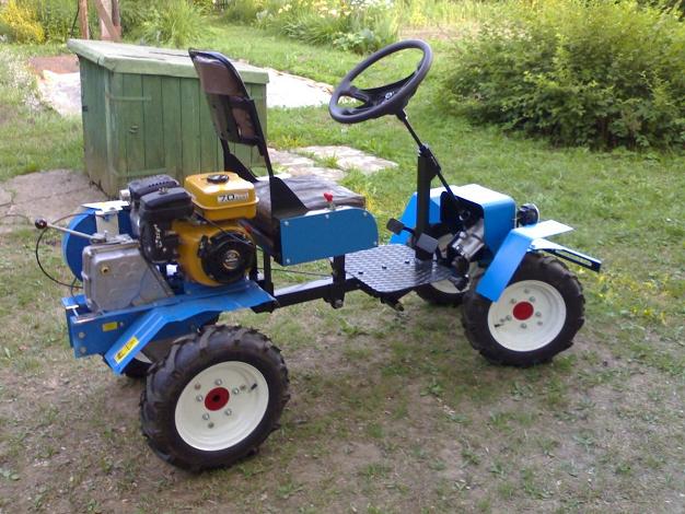 Как сделать из мотоблока трактор своими руками