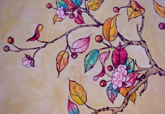 Рисунок для росписи стен своими руками