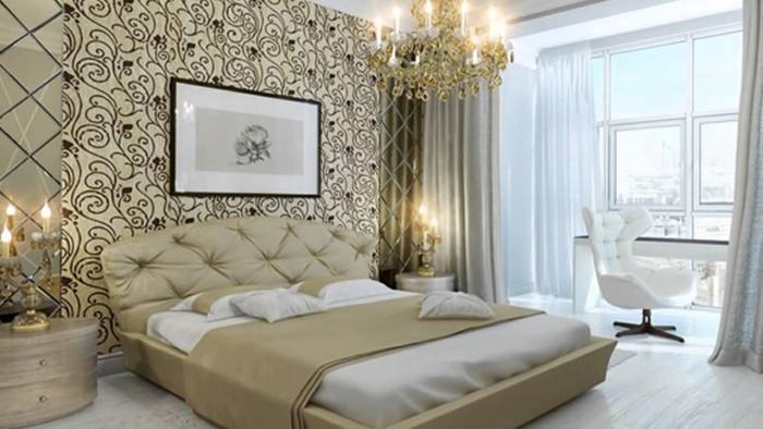 Moderne Tapeten für das Schlafzimmer