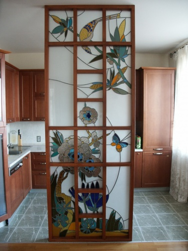 Декоративные перегородки меж гостиной и кухней Русский дом, построй и живи в нем!
