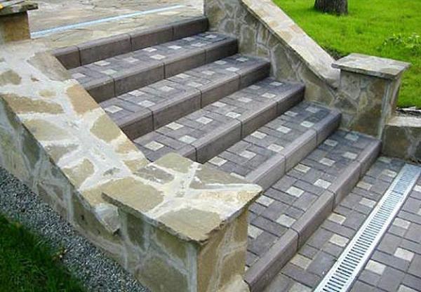 Как сделать ступеньки с тротуарной плитки