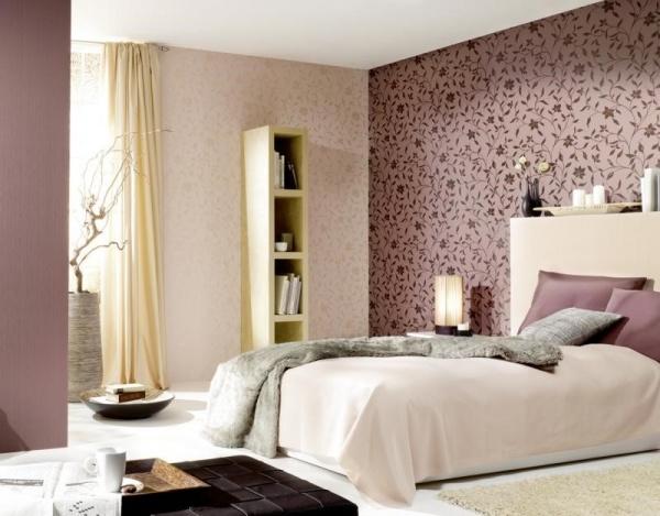 Обои для спальни комбинированные фото