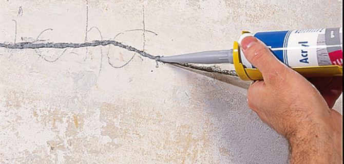 Как заделать трещину на стене видео