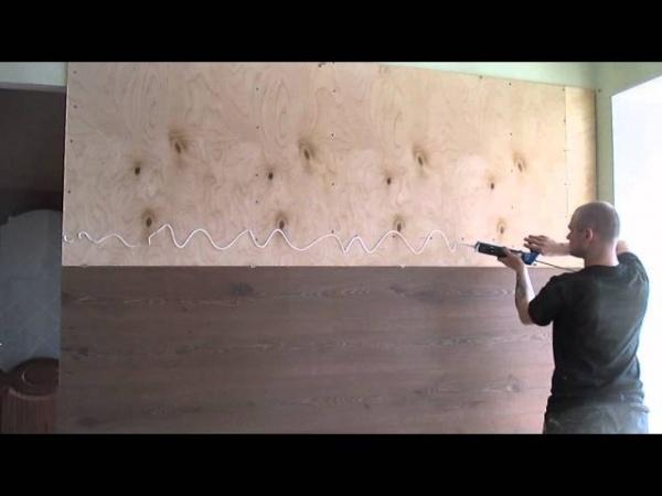 Укладка ламината на стену своими руками