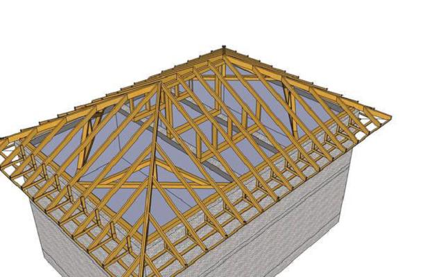 Крыша четырехскатная своими руками чертежи и фото 5