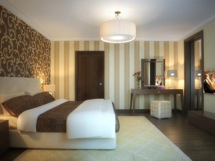 Дизайн обои в спальню