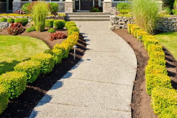 Садовые дорожки из бетонных плиток своими руками