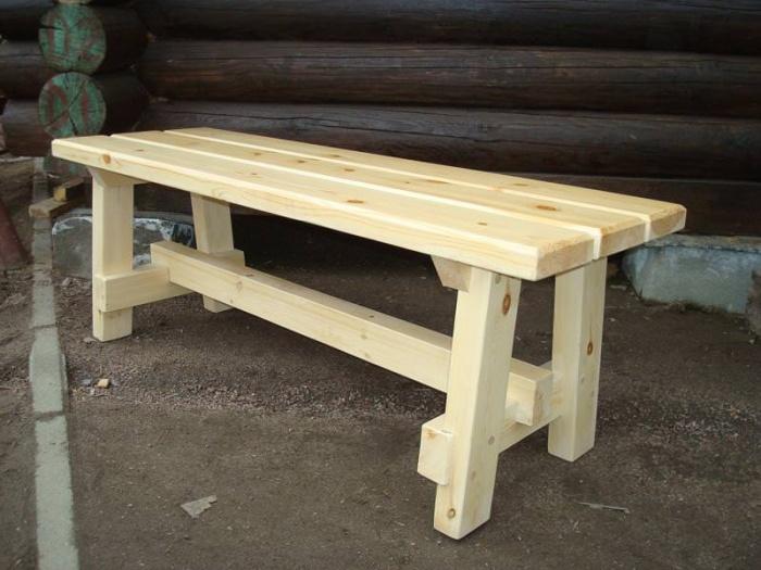 Изготовление скамейки для бани своими руками 15