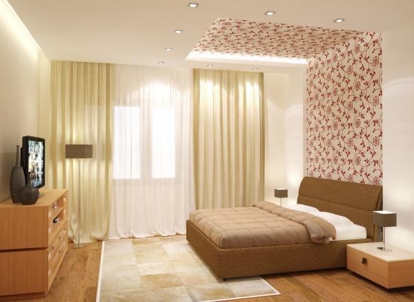 Просто и со вкусом дизайн спальни