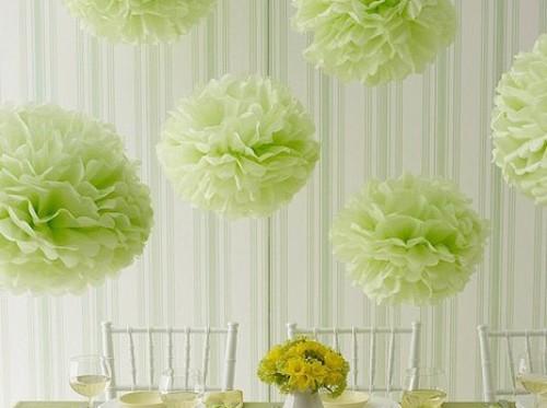 Цветы из бумаги для украшения зала