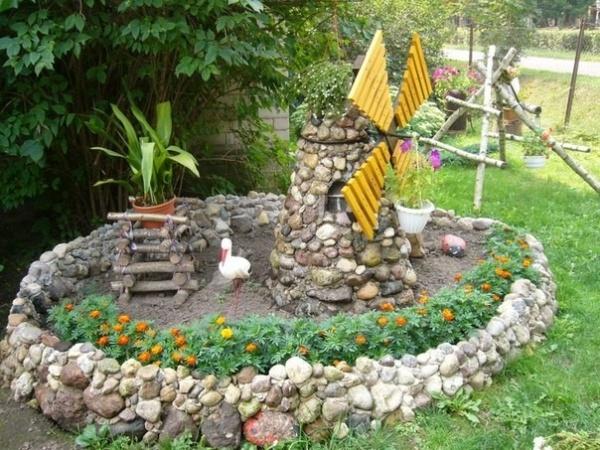 Делаем поделки и украшения для дачи и сада