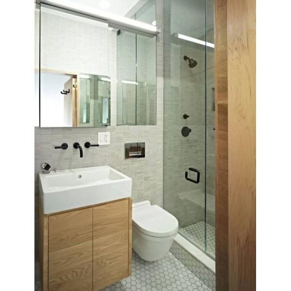 Маленькая ванная комната с душевой дизайн