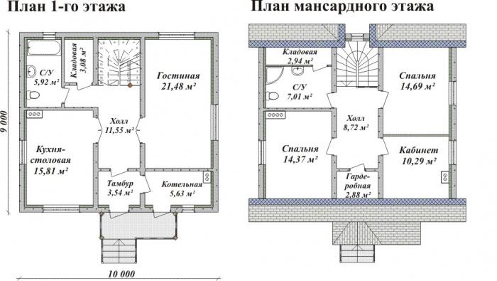 Дом своими руками из пеноблоков план 83