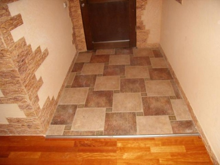Плитка ламинат в коридоре дизайн