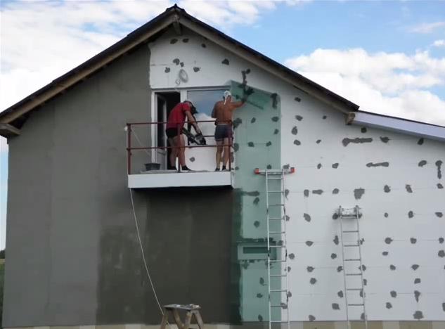 Утепление фасадов дома пенополистиролом своими руками 36