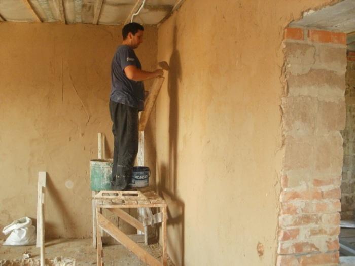Штукатурка стен своими руками арболита 47