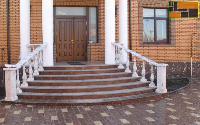 Облицовка бетонного крыльца тротуарной плиткой