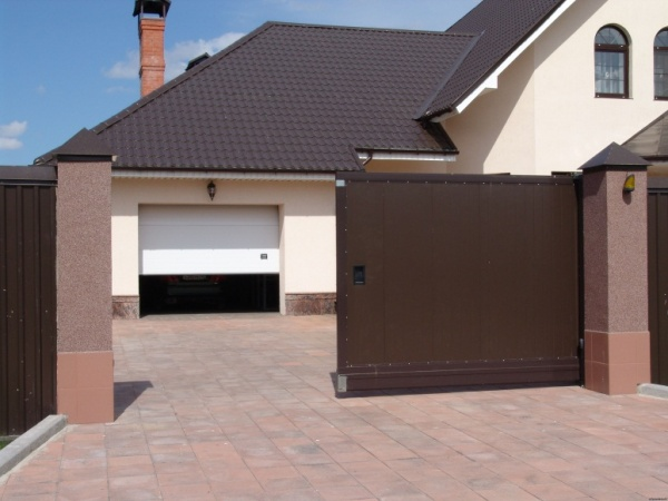 Автоматические коричневые ворота