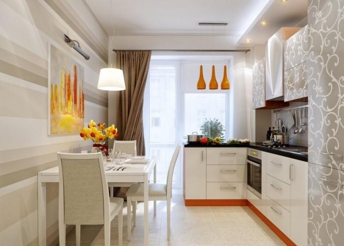 Hintergrundbild für eine kleine Küche