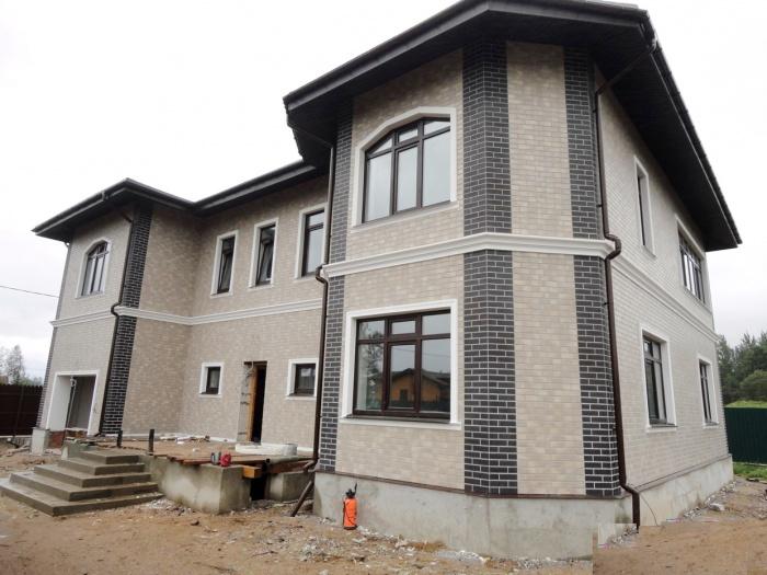 Отделка фасада частного дома клинкерной плиткой дизайн