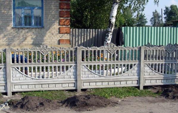Забор у палисадника
