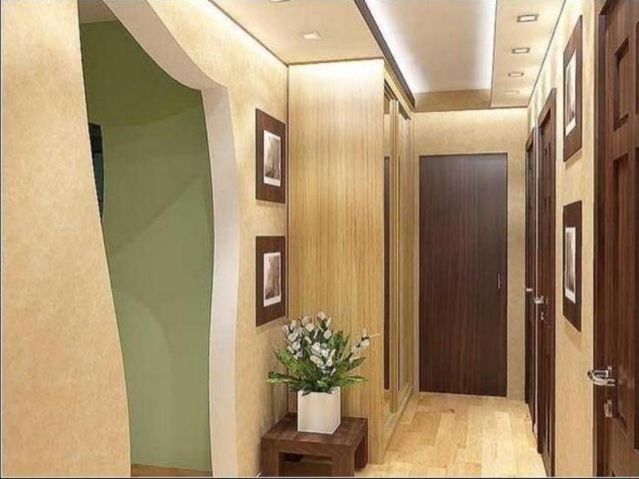 Идеи для ремонта коридора в квартире фото реальные в панельном доме