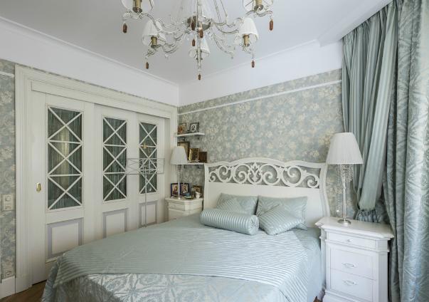 обои для спальни в стиле прованс фото