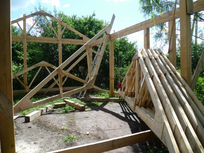 Как я построил каркасный гараж своими руками