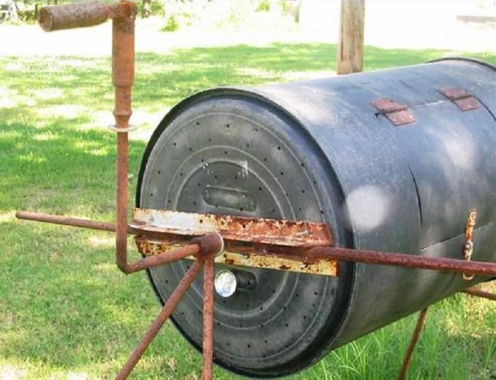Бетономешалка из колесных дисков