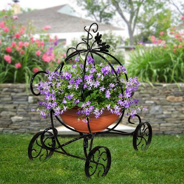Декоративные подставки под цветы из металла