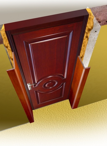 отделка для входных железных дверей