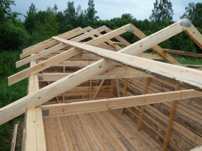 Крыша для сарая двускатная своими руками