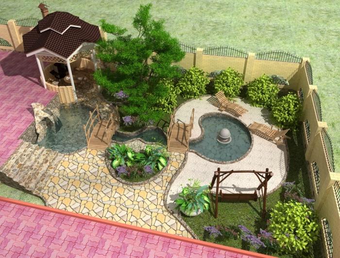 Ландшафтный дизайн маленьком участке