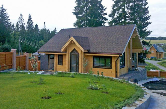 Проект дома с гостевым домиком