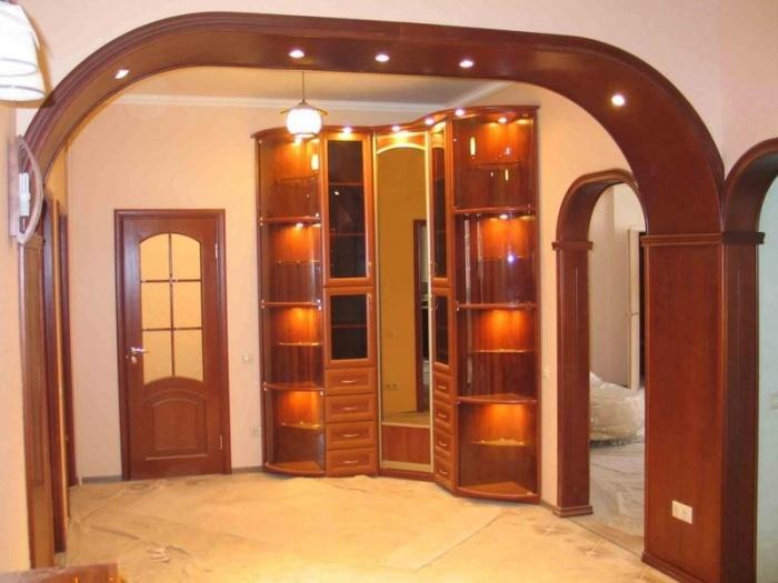 Оформить дверной проем без двери