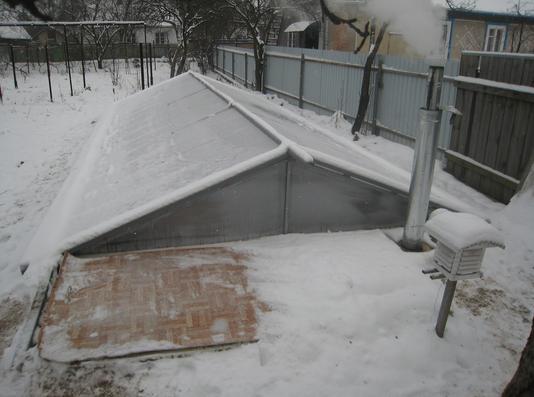 Зимняя теплица своими руками отопление видео