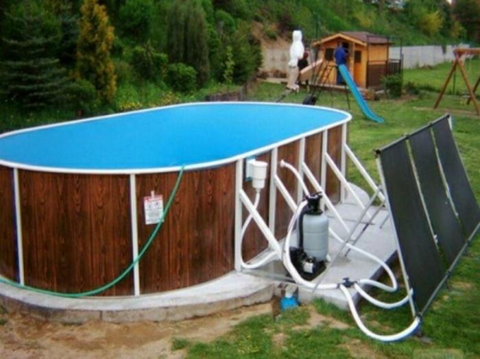 Солнечный коллектор воды для бассейна своими руками 78