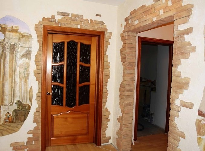 Дизайн дверных проемов в камне