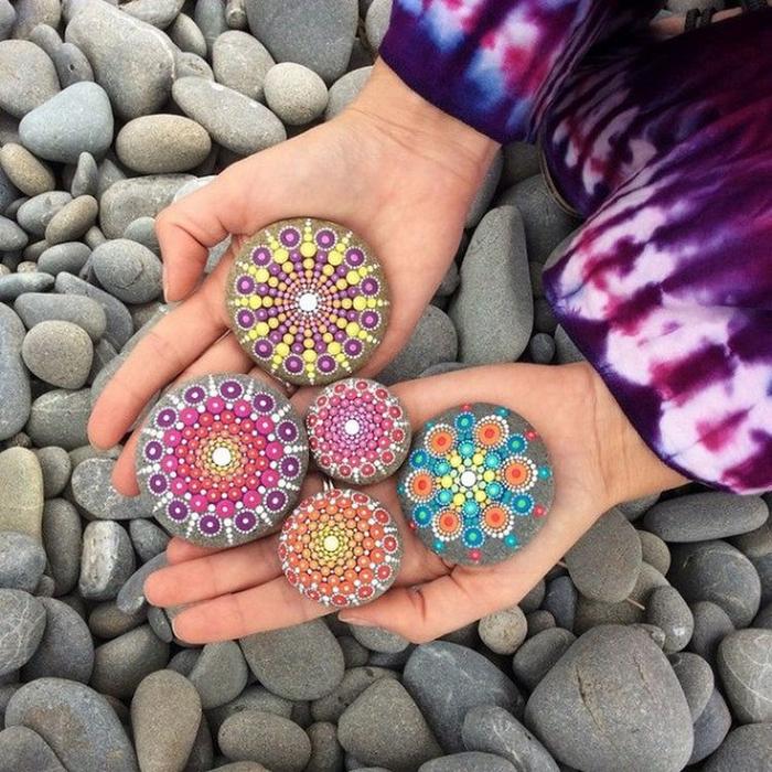 Рисунки на камнях дизайн 455