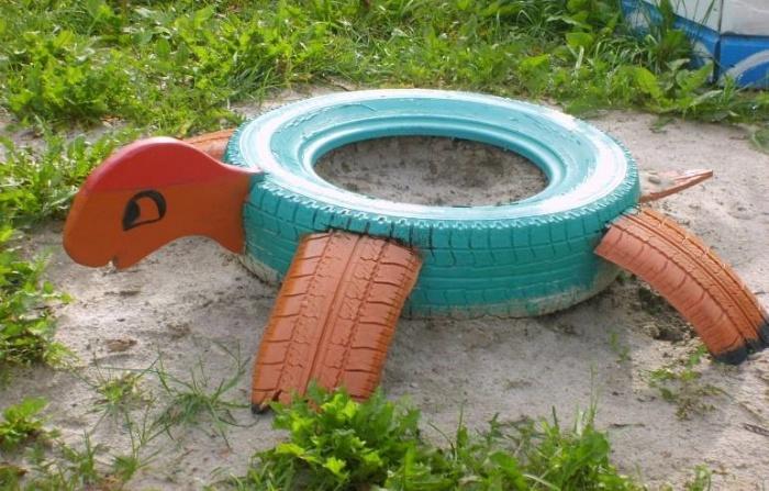 Песочницы из колес своими руками фото