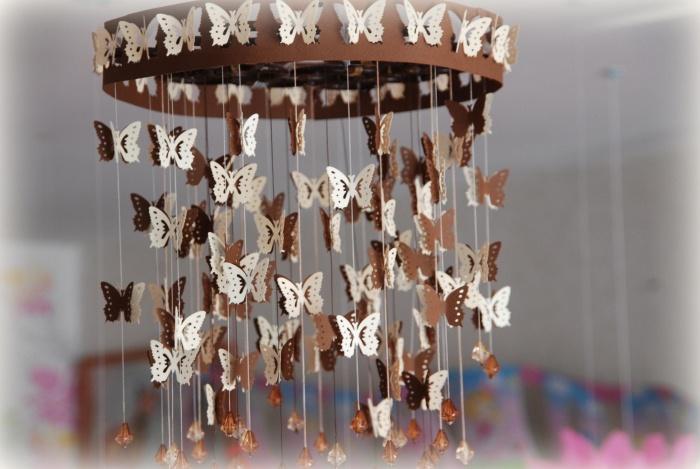 Люстра с бабочками как сделать 982