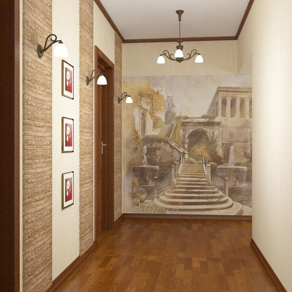 Фотообоев для коридора дизайн