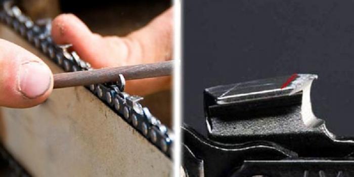 Как в домашних условиях заточить цепь на  553