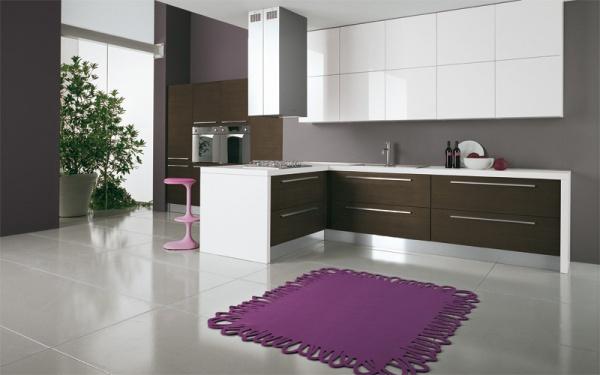 кухня в бело коричневых тонах фото