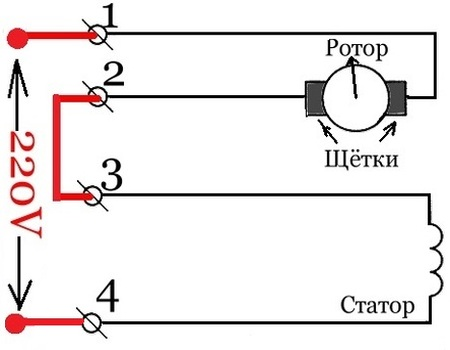 Коллекторный двигатель переменного тока 220в схема подключения фото 254