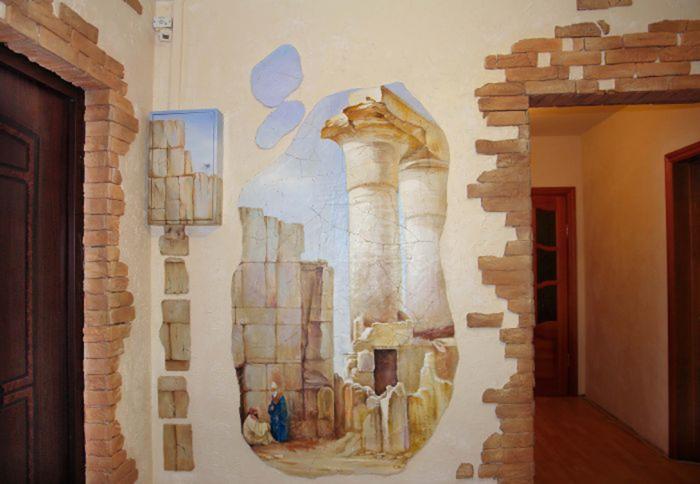 Прихожая оформление стен своими руками